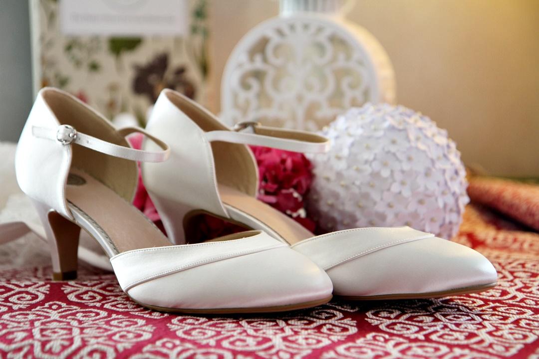 chaussure de mariage - Sybelle en blanc Reims