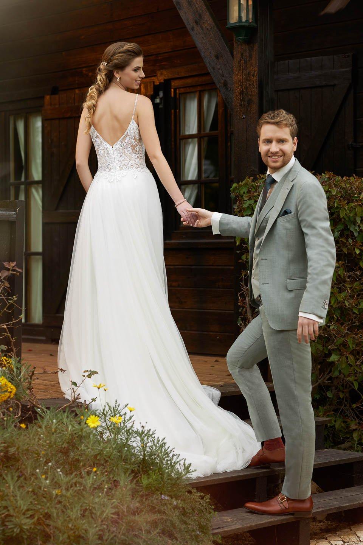 Robe de mariée 21131- Sybelle en blanc Reims