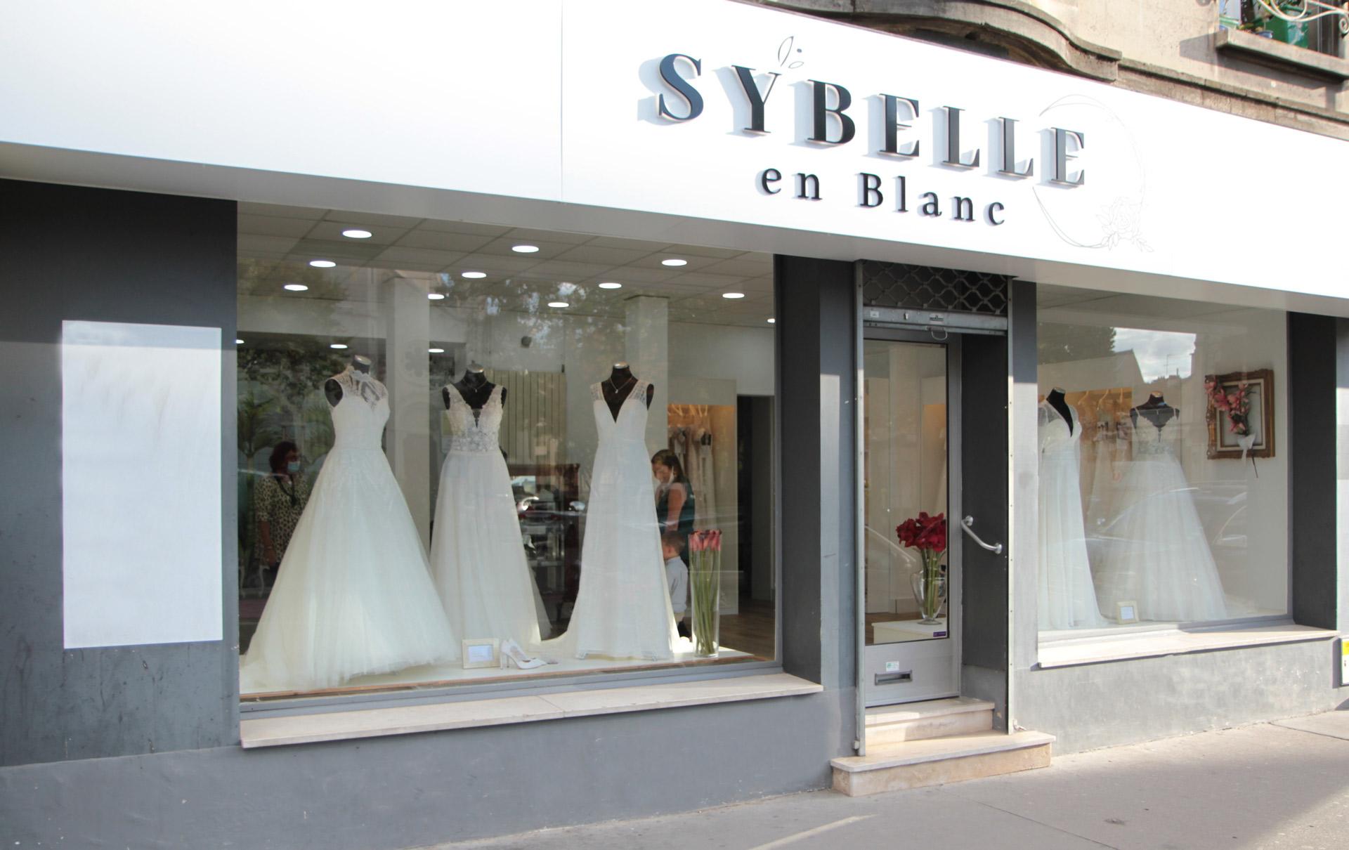 Devanture Sybelle en Blanc