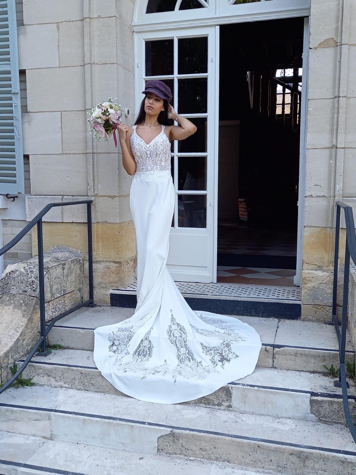 Shooting chateau cormicy - Robe de mariée